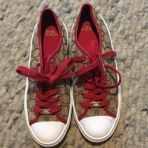 Coach Signature Canvas Sneakers Size 9